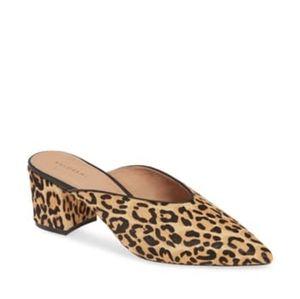 Halogen Hatori Leopard Print Calf Skin Mules